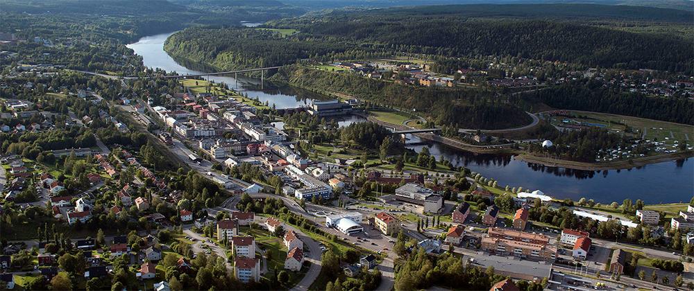Vy över Sollefteå